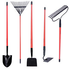 Black Decker Long Handled Garden Tools 5 PC Set Shovel Rake Hoe