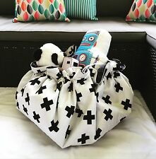 MONOCHROME SWISS CROSS LEGO PLAY MAT BAG TOY STORAGE KIDS BEAUTIFUL GIFT Playmat