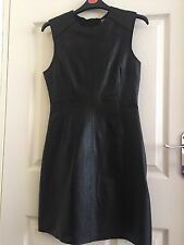 Black Leather Dress River Island Designer Zoë Jordan UK10
