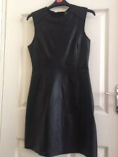 Black Leather Dress River Island Designer Zoë Jordan UK10 £120 Retail Price