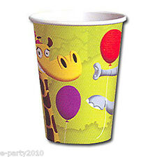 JUNGLE FROLIC 9oz PAPER CUPS (8) ~ Birthday Party Supplies Beverage Drinking