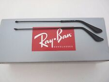 100%Authentic NEW RAY BAN SHINY BLACK REPLACEMENT TEMPLES FOR 3025 AVIATOR 135mm