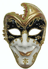 Evil Adult Full Face Jester Masquerade Mask Halloween Fancy Dress AccessoryEM432