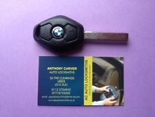 BMW 3 BUTTON DIAMOND KEY VIRGINISED & FULLY REWORKED & READY TO CUT & PROGRAM