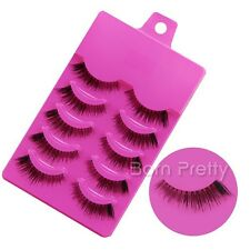 5 Paare falsche künstliche Wimpern Handmade Long Jagged False Eyelashes 17083