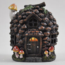 Magical Pine Cone House Garden Ornament LED LIGHT Woodland Home Elf Pixie 39200