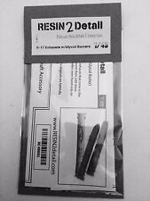 BRAND NEW  RESIN2Detail 1/48 B-17 G-model Exhaust Upgrade - Glycol Burners