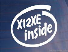 X12XE INSIDE Fantaisie Vinyle Voiture/Fenêtre/Autocollant Pare Choc Idéal pour