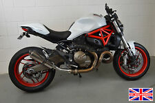 Ducati Monster 821 14-16 Polished Stainless Round Moto GP XLS SP Exhaust