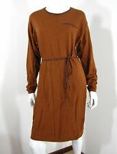 H & M NWT LONG SLEEVE SWEATER DRESS SIZE M, BROWN