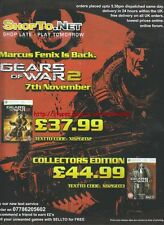 "Gears Of War 2 ""Xbox 360"" 2008 Magazine Advert #4560"