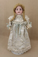 "18"" antique bisque socket head German R A Recknagel girl Doll"