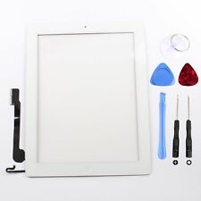 For iPad 4 A1458-A1460 Touch Screen Glass Digitizer White+Home Button Assembly