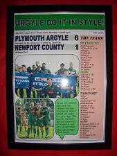 Plymouth Argyle 6 Newport County 1 - 2017 - Plymouth promoted - framed print