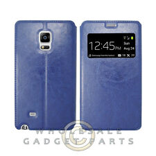 Samsung Galaxy Note Edge S-View Flip Cover Blue Cover Shell Protector Guard Skin
