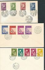 Vietnam 1958 3 sets on unaddressed first day covers