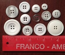 12 Beautiful Assorted Resin Buttons - Scrapbooking/Crafts/Sewing