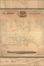 24''x36'' Poster - Topographical Plan or Map of The City Of Toronto, Canada 1842