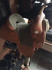 "Bob Marshall Treeless Circle Y Barrel Saddle 14"" Excellent Used Condition"