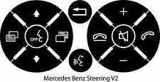 Mercedes Benz Matte Black Steering Wheel Button Repair Stickers Decals