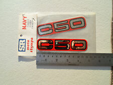Honda N.O.S C50 RED Stickers set of two made in Grecce 1980's PRICE A PAIR