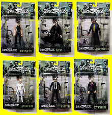 Matrix Series 1 6  Movie Action Figure Set N2 Toys Neo Trinity Morpheus 1999 New