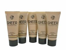 5 x W7 sheer smooth foundation 30g (nude, sand, biscuit, natural / true beige)