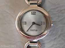 YEMA MONTRE BRACELET QUARTZ RONDE ACIER GRISE FEMME STAINLESS STEEL WOMEN WATCH