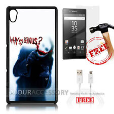 Sony Xperia Z5 Case Cover Tempered Glass Film A1773 Why Serious Joker