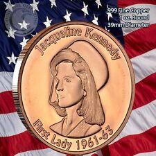"""Jackie Kennedy """"First Lady"""" 1 oz .999 Copper Round"""