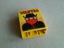 LEGO Duplo Motivstein Bandit Sheriff Indianer Polizei Plakat Steckbrief 2. Wahl
