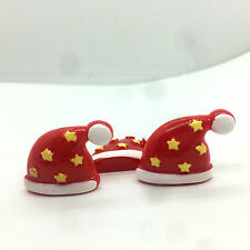 5PCS Christmas Christmas red hat Resin star embellishment scrapbooking、