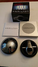 Hamilton Men In Black II H121138911 Wrist Watch Pulsar Digital P2 LCD Ventura