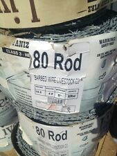 """New Barbed Wire Livestock C3 15.5 4 Point 80 Rod 5"""" Spacing 1,320 FT Roll"""
