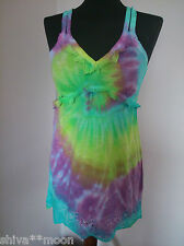 HIPPY BOHO TIE DYE GYPSY TOP BLOUSE HIPPIE BAY  2606e size 10