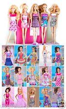 15-piece Barbie Dresses Clothes 5 Handmade Barbie Dresses +10 shoes For Barbie