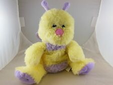 """Adorable 10"""" Butterfly Hand Puppet Yellow & Lavender Kelly Toy Ex. Condition"""