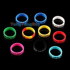 10 X Vape Rings Rubber Silicone Bands Band For Mechanical Mods RBAs RDAs Tank