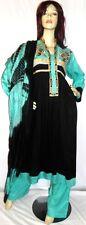 Shalwar kameez pakistani designer black indian salwar sari abaya suit uk 10