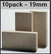 Vermiculite 10 pack fire insulator heat bricks pizza oven / fireplace 230x110x19