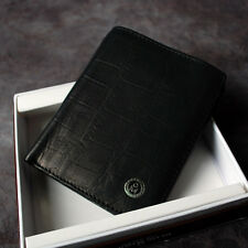 BlueMount Genuine Leather Men's Bifold Wallet  Purse with Zipper Coin Slot 3261