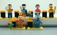 Set of 6 Doraemon Minifigure Building Block Toys USA SHIPPER