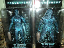PROMETHEUS HOLOGRAPHIC ENGINEER CHAIR SUIT FIGURE SET NECA ALIEN SERIES 3 AVP