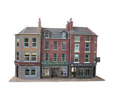 Metcalfe PO205 Low Relief Pub & Shops Die Cut Card Kit 00 Gauge -1st Class Post