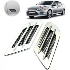 Car Side Air Flow Vent Fender Hole Cover Intake Grille Duct Decoration Sticker