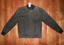 NEW $300 FRED PERRY 1960s Style Made in England J4163 Checkerboard Tennis Bomber