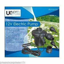 12v UKHOBBYSTORE ELECTRIC AIRBED PUMP LILO AIR BED INFLATOR CIGARETTE CAR PLUG