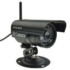 720P Wireless Outdoor IR Day Night Security Network IP Camera Waterproof Black