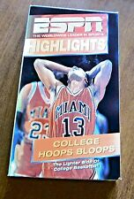 College Hoops Bloops (VHS, 1990) ESPN Highlights Basket Ball
