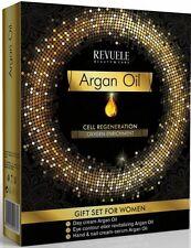 Revuele Argan Oil Conjunto de Regalo regeneración celular-Crema de día, Crema de Ojos Elixir, mano